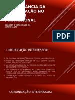 A Importância Da Comunicação No Ambiente Profissional