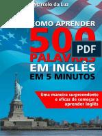 Como Aprender 500 Palavras Em Inglês Em 5 Minutos (1).pdf