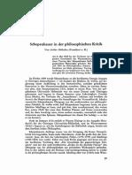 Huebscher - Schopenhauer in Der Phil. Kritik
