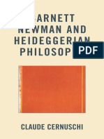 Claude Cernuschi-Barnett Newman and Heideggerian Philosophy-Fairleigh Dickinson University Press (2012)