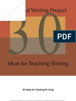 30 Ideas for Writing That Work