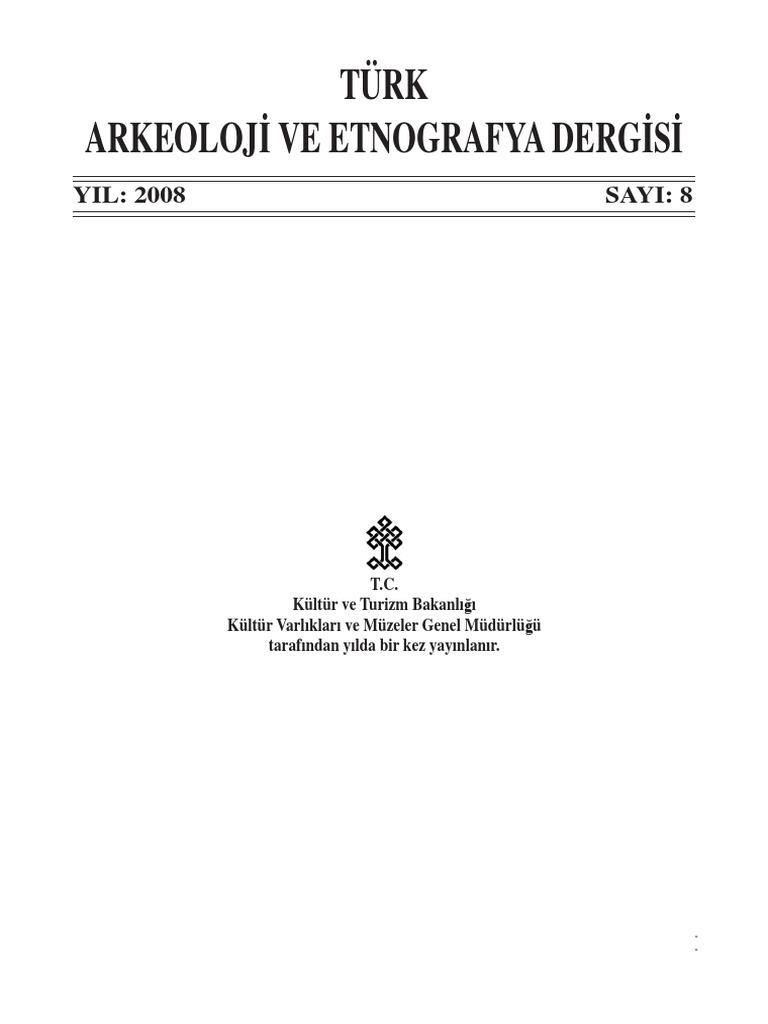 08 Türk Arkeoloji Ve Etnografya Dergisi 2008pdf