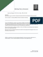 Kosso Method in Archaeology Middle Range Theory Hermeneutics