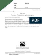 EN 437 2003 gaz standartları