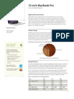 MacBook Pro 13 Inch Environmental Report April2010
