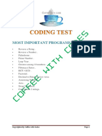 Code Test Tcs 2k18 by Cwc