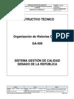 GA-It06 Instructivo Técnico Para La Organización de Historias Clinicas