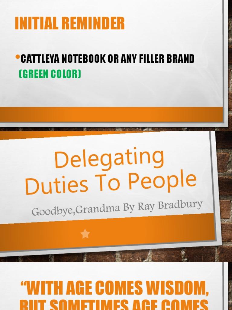 Delegating Duties To People