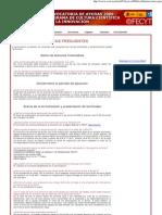 Convocatoria FECYT 2009 FAQ
