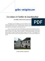 Les Mines Et l'Atelier de Joachimsthal