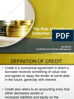 1 the Role of Credit and Collection Management