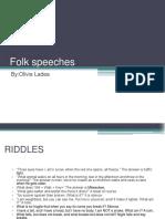 Folk Speeches
