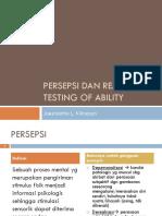 Persepsi Dan Reality Testing of Ability