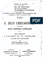 St Jean Chrysostome Et Ses Oeuvres
