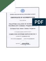 Assessment Certificate