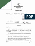 Alabang Dev. Corp.  vs. Alabang Hills Village Asso., et. al., G.R. No. 187456, June 02, 2014.pdf