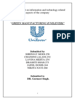 UNILEVER green manufacturing.docx