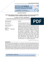 PRELIMINARY PHARMACOGNOSTIC AND PHYSICO-CHEMICAL EVALUATION OF ROOTBARK AND STEMBARK OF GMELINA ARBOREA ROXB. HORT. BENG(SAN.KASMARI).