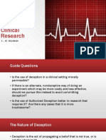 Deception of Clinical Research