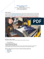 Methods of Fabric Cutting