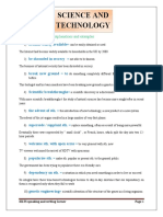 Science and technology Academic words