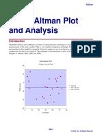Bland-Altman Plot and Analysis