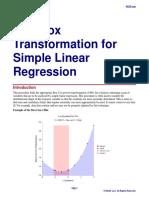 Box-Cox Transformation for Simple Linear Regression