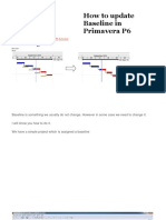 How to Update Baseline in Primavera