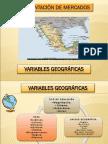 Segmentación de mercado. Variables Geográficas