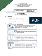 Exp 1 - Basic Fluid Properties