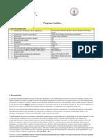 Programa Analitico de Teea 2018