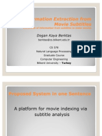 Movie Categorization According to Subtitles -- NLP Course Project