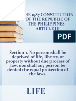 BILL OF RIGHTS Section 1
