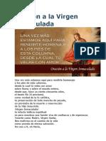 Oración a La Virgen Inmaculada