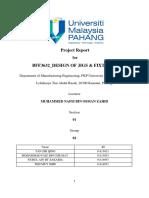 Final Jigs Fixture Report