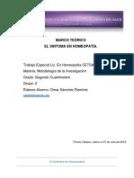 """MARCO TEÓRICO """"EL SINTOMA HOMEOPÁTICO"""""""