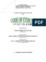 AFP CORE VALUES & CODE OF ETHICS.doc