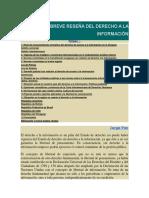 Breve Reseña Del Derecho a La Información Uruguay