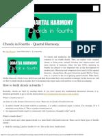 Chords in Fourths - Quartal Harmony