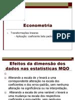 Econometria - Aula Formas Funcionais