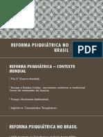 AULA  - Reforma Psiquiátrica