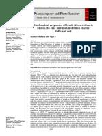 Biochemical responses of lentil (Lens culinaris Medik) to zinc and iron nutrition in zinc deficient soil.
