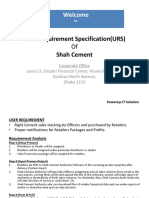 User Requirement Specification(URS)