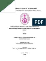 TESIS REFUGIOS MINEROS
