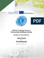 TICTAC InfoPack for Participants 2017-2018