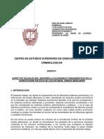 Aspectos Sociales Del Desarrollo Económico Fundamentado en La Cpeum