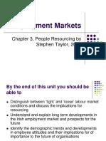 3Employment Market Pressures