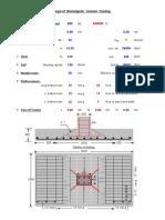 Design of Rectangular Coloum Footing Excel Sheet