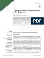 Pérez-Álvarez, M. (2017). the Four Causes of ADHD. Aristotle in the Classroom.