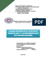 Globalización en El Contexto Venezolano y Sus Repercusiones
